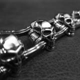 Heavy Silver Skull Bracelet TB177