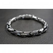 925 Sterling Silver Twist Rolo Bracelet SB50