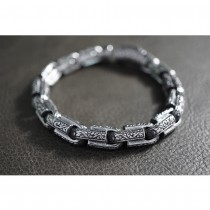 Black Silver Gothic Bracelet TB243