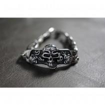 Silver Skull & Rose Bracelet TB31
