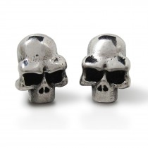 Silver Skull Earring TE06 (Pair)