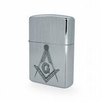 Silver Masonic Windproof Lighter LG2500