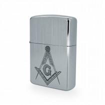 Silver Masonic Windproof Lighter LG2500