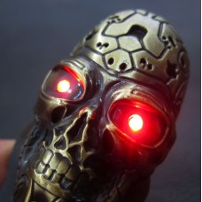Gold Terminator Skull USB Electric Lighter LG4200