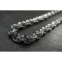 Heavy Silver Twist Necklace / Chain  TN61