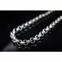 "26.5"" Black Silver Diamond Rolo Necklace / Chain TN100"