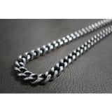Silver & Black Smooth Rolo Necklace TN78
