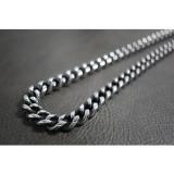 Silver & Black Smooth Rolo Necklace TN78