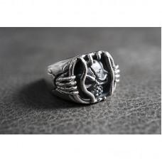 925 Sterling Silver Jail Breaker Skull Ring SR44