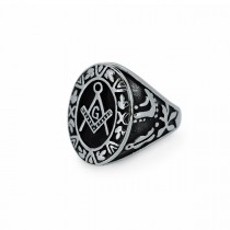 Silver Freemason Ring TR188