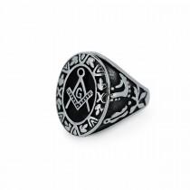 Silver Freemason Ring TR188