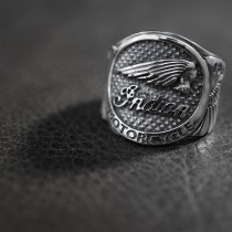 925 Sterling Silver Indian Motorcycle Ring  SR75