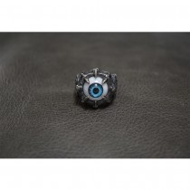 Heavy Silver Ring with Blue Eye Ball Ring TR162