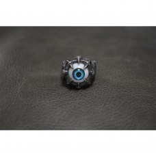 Heavy Silver Ring with Blue Eye Ball TR252