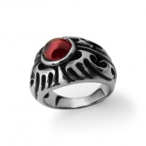 Tribe Ring with Red Crystal TR82
