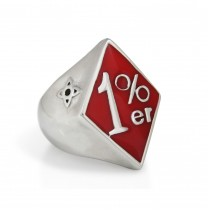 Silver Red 1% ER Ring TR155