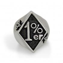Silver Black 1% ER Ring TR139