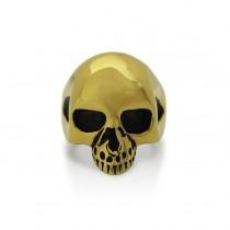 Gold Skull Ring TR147