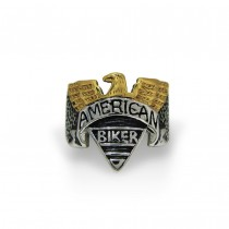 Golden American Eagle Biker Ring TR158