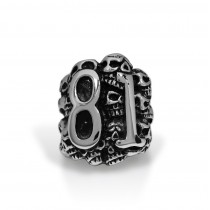 Huge Skull 81 Ring TR158