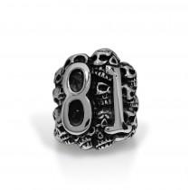 Huge Skull 81 Ring TR158