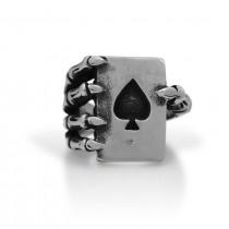 Spade Ace Skull hand Ring TR134
