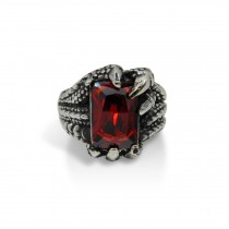 Dragon Claw Ring with Red Crystal  TR84