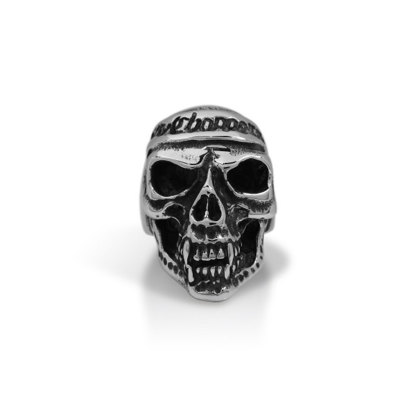 e4402960ab900 Choppers Silver Skull Ring TR91
