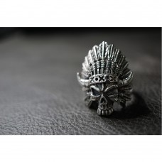925 Sterling Silver Indian Skull Ring SR35