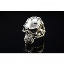 925 Sterling Silver Anger Skull Ring SR39