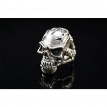 925 Sterling Silver Anger Skull Ring SR39