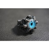 925 Sterling Silver Ring with Blue Eye Ball Ring SR54