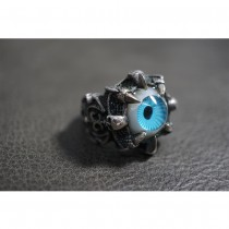 925 Sterling Silver Ring with Blue Eye Ball SR54