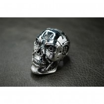 925 Sterling Silver Skull Ring for Terminator Salvation Fans SR800