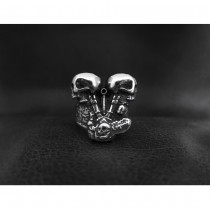 V-twin Engine Skull Ring TR177