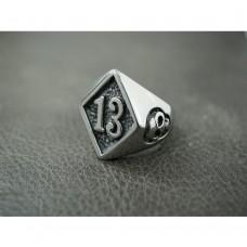 Silver 13 Diamond Ring TR183