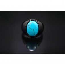 Oval Blue Turquoise Ring TR205
