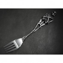 Heavy Silver Skull Table Fork  KT10