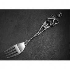 Heavy Silver Skull Table Fork  KT10