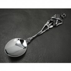 Heavy Silver Skull Table Spoon  KT12