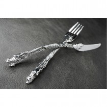 Silver Dragon Table Set (Fork Knife) KT20