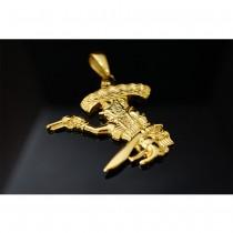 Gold Bandido Mexican Pendant TP87