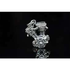 925 Sterling Silver V-Twin Engine Pendant  SP15