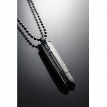 Lord's Prayer Black Bullet Pendant / Drug Box TC07