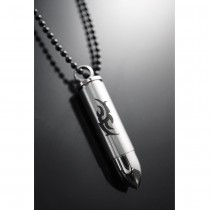 Silver Dragon Bullet Pendant / Drug Box TC08