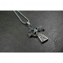 Gothic Cross Pendant with Swarovski Crystal TP122