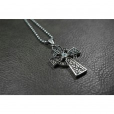 Gothic Cross Pendant with Swarovski Crystal TP122
